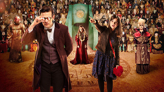 The Rings of Akhaten Promo Picture Featuring Matt Smith and Louise Jane Coleman
