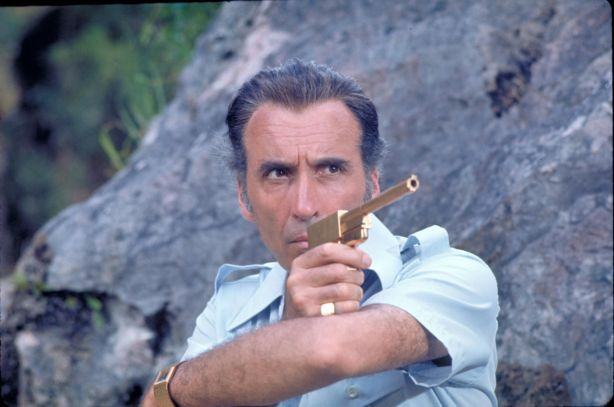 Christopher Lee as The Man with the Golden Gun