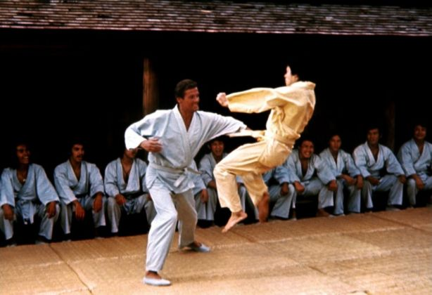 Roger Moore Karate Fight